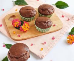 Muffins de alfarroba, amêndoa e limão