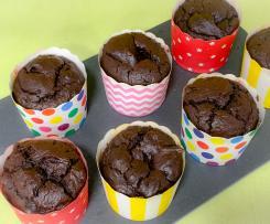 Muffins húmidos de chocolate