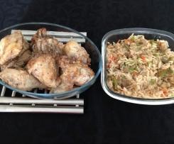 Frango na Varoma com arroz colorido