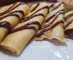 Crepes com Nutella e Manteiga de amendoim