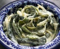 Salada de Chili cremosa (Rajas con crema)