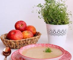 Sopa de Alho Francês e Maçã