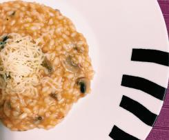Risoto de farinheira e cogumelos