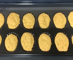 Madalenas de laranja e banana (Ideial para bebés e crianças)