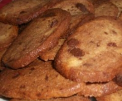 Cookies com nozes e chocolate