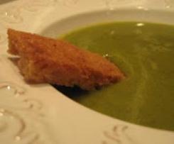 Sopa de ervilhas e agrião com hortelã (Sopa Verde)