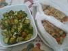 Espetadas de atum com batatas e pesto de espinafres