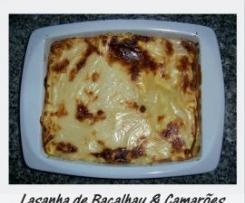 Lasanha de Bacalhau & Camarões