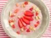 Papas de tapioca e morango (Pequeno-almoço)