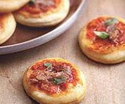 Mini pizza com escabeche