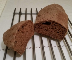 Pão escuro sem glúten