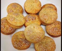 Muffins fit com banana e aveia