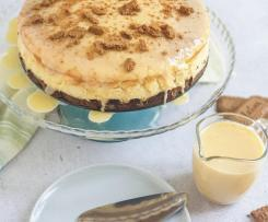 Cheesecake de 4 queijos e bolacha Lótus