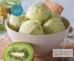 Gelado de kiwi sem natas