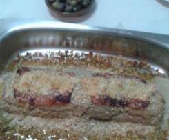 Rolo de carne com recheio de ovo