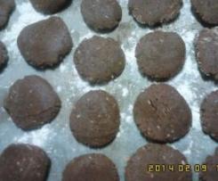 Bolinhos de gengibre de chocolate,rápidas
