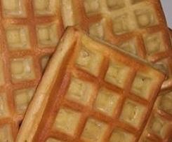 Waffles no forno