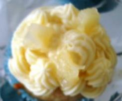 Cupcakes de Ananás e Iogurte
