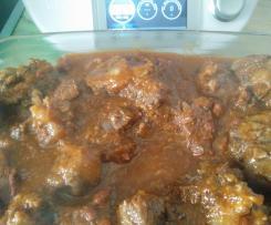 Rabo boi estufado
