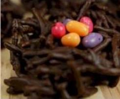 Ninhos de Páscoa de Chocolate