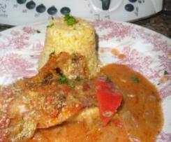 Filetes de peixe assados no forno