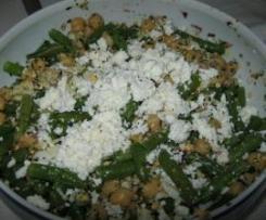 Salada de Feijão-verde, Grão e Requeijão