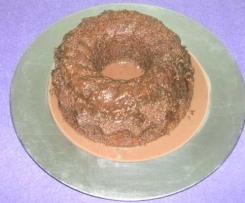 Bolo de chocolate húmido de microondas