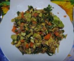 Salada de abacate aromático