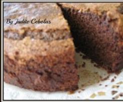 Bolo de chocolate com crosta, alto fofo e húmido