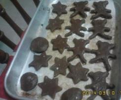 Bolachas de chocolate c/ leite,rápidas