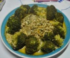 Brócolos com queijo e ervas aromáticas