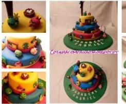 Bolo de Aniversário Angry Birds