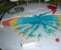 Bolo arco-íris