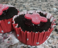 Cupcake Chocolate fingido