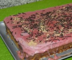 Tarte de chocolate e morango