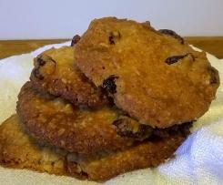 Biscoitos de arandos e chocolate branco
