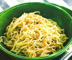 Esparguete com azeite, alho e salsa