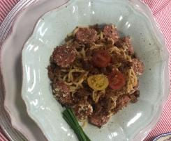 Linguinni com Salsicha Toscana