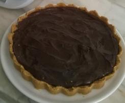 Tarte de chocolate e natas