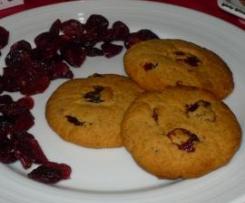 Biscoitos de Cerelac e Cranberries