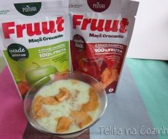 pudim de gelatina e quark de maçã com Fruut