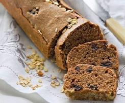 Pão de chocolate com passas