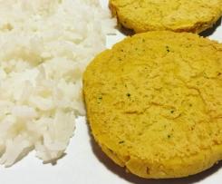 Hamburgueres vegan de grão e caril