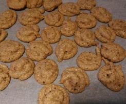 Biscoitos cagalhotos de Pêra e aveia