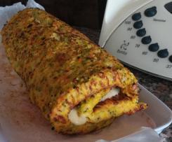 Torta de Legumes recheada com presunto e queijo
