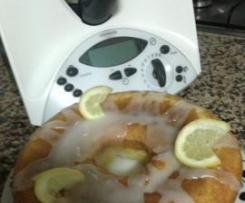 Bolo de limão, com glacê de limão