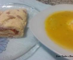 Sopa de Verduras com ovo ao vapor...e Omelete Recheada ao vapor...