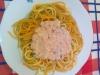 Esparguete com atum e natas
