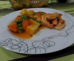 Pescada com Camarão em Molho de Tomate