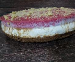 Mousse enformada de chocolate, natas e framboesa